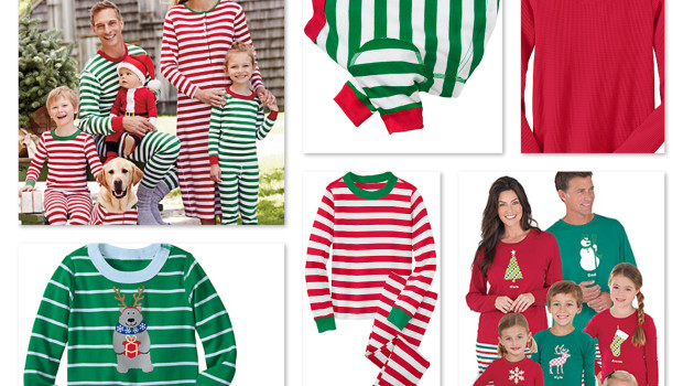 Very Merry Christmas Red & Green Stripes Matching Family Pajamas