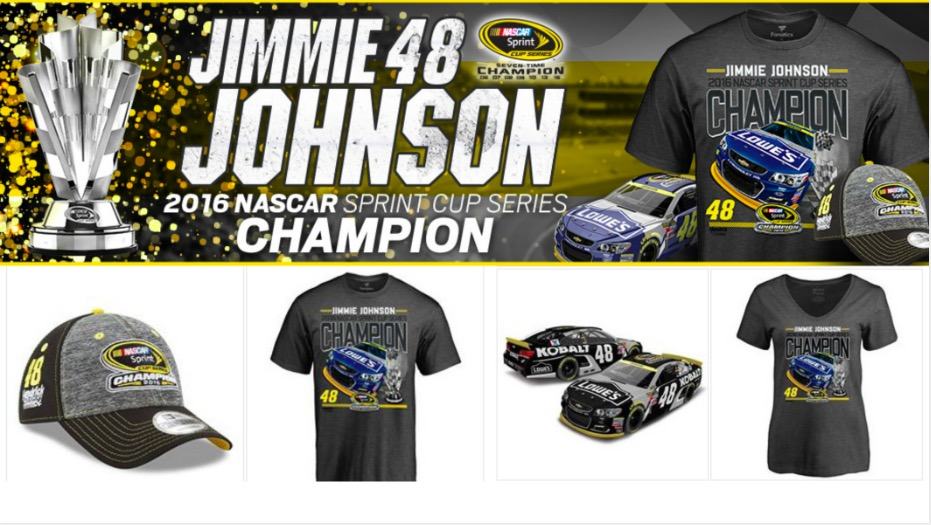 Jimmie Johnson Champion Gear