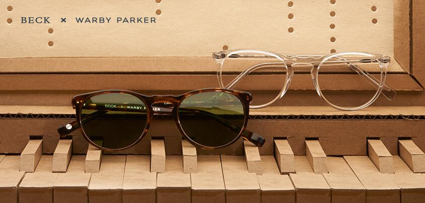 Beck + Warby Parker Team up to create the Carmichael Collection
