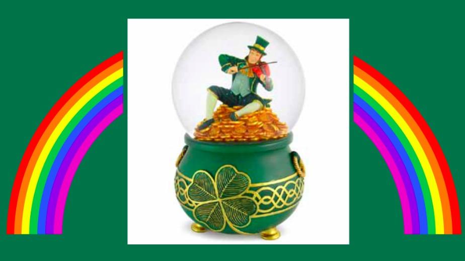 Best Leprechaun Gift Musical Leprechaun Water Globe
