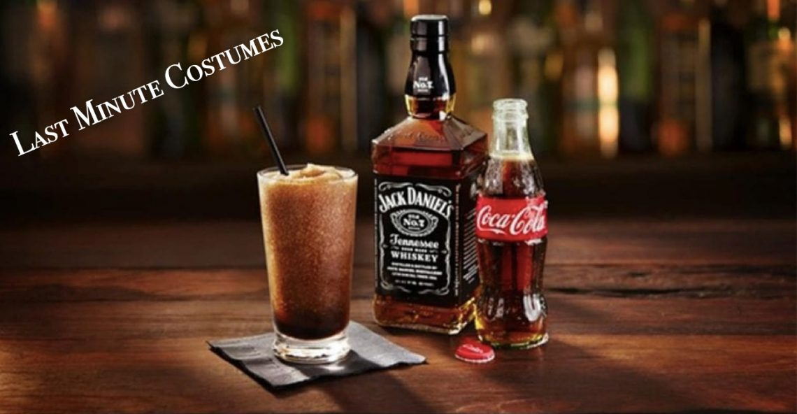 Last Minute Halloween Costumes - Jack and Coke Couples Costumes